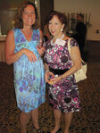 Nancy Poulos (Kerry Ingredients & Flavours) and Marion Brooks (Citrus & Allied) at the WFFC Woman of the Year event
