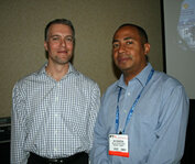 from left: Aaron Graham (Griffith Labs) and Ian Thompson (University of the West Indies)