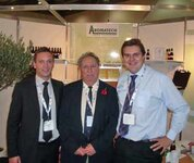 left to right: Benoît Martel (Aromatech), Roger Levicki, Tim Levicki (Aromatech)