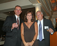 from left: John Lusk, Nancy Poulos, Steve Shelton