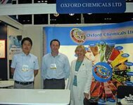 left to right: Kedchiro Akeyama, Steve Pringle, Florentina Cimpian (all from Oxford Chemicals)