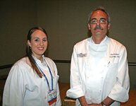 Madalyn Thibodeaux (Louisana State University) and Charles Ray (Diversified Foods)