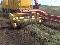 The harvester in action