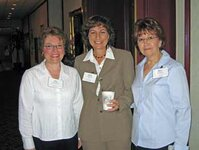 left to right: Jean Cassidy (Takasago), Nancy Poulos (Treatt USA), Marie Cenno (Polarome)
