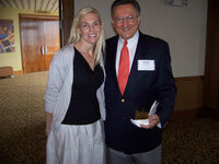 Paige Crist (Allured Business Media) and Richard Panzarasa (Panzarasa Group) at the WFFC Woman of the Year event