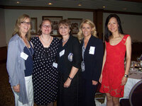 Janice Hart (Bell Flavors & Fragrances), Amy Marks-McGee (Trendincite), Helen Feygin (Intuiscent), Zyla Vucetovic (Berje) and Joan Huang (Symrise) at the WFFC Woman of the Year event