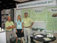 Aromatech Flavorings Inc.'s booth