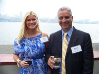 Kelli Heinz and Michael Monterosa (both Bell Flavors & Fragrances) at the WFFC Woman of the Year event