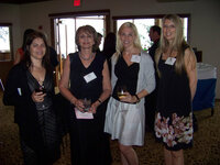 Missy Mazelon (7 For All Mankind), Helen Feygin (Intuiscent), Paige Crist (Allured Business Media) and Jeanine Pedersen (Takasago) at WFFC Woman of the Year event