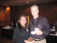 Karyna Flood (Gold Coast Ingredients) and Steve Davis (Sethness Products)