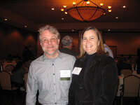 Tony Moore (Flavor Producers) and Mary Foster (Wild Flavors)