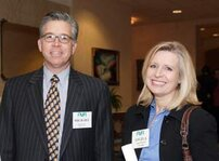 left to right: Michael Rivers (Fleuria Inc.), Angela Barrett (Givaudan)
