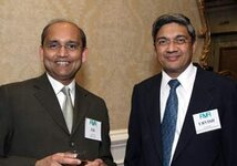 left to right: J.D. Vora (Robertet), Urvish Shah (IFF)