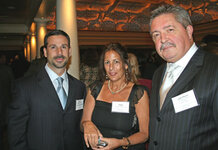 from left: Brett Guinto, Carol Feldman (Aromor Flavors & Fragrances), Jean-Pierre Subrenat (Creative Concepts)