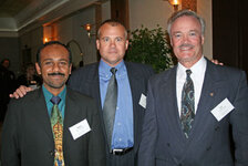 from left: Nachi Adaikalavan (Cargill), Joe Schreiber (O'Laughlin Industries), Tim McDonough (O'Laughlin Industries)