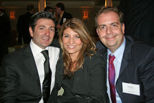 from left: Laurent LeGuernec, Celine Roche, Frederic Jacques