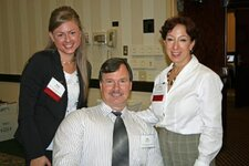 left to right: Kristi Lamb (C&A Service Inc.), Mike Karbonik (C&A Service Inc.), Marion Brooks (Citrus & Allied Essences Ltd.)