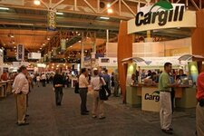 The IFT show floor, with Cargill's booth in the forefront