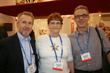 from left: Izzy Heller (Bedoukian Research), June Thompson (Frutarom USA) and Michael Conti (Frutarom USA)