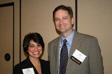 from left: Paula Boudjouk (Medallion Intl. Inc.), John Cox (Law Offices of John H. Cox PLLC)