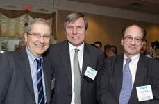 left to right: Robert Bedoukian (Bedoukian Research Inc.), Klaus Stanzl (Symrise), Glenn Roberts (FMA)
