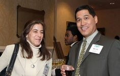 left to right: Gail H. (Robertet Inc.), Dean Matienzo (Bontoux Inc.)
