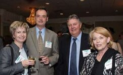 left to right: Andrea Wiese (unknown), Bob Daly (Belmay Inc.), Arthur F. (The John D.  Walsh Co. Inc.), Pherne L. (BASF Corp.)