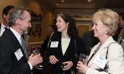 left to right: Izzy Heller (Bedoukian Research Inc.), Nancy Allured (GCI magazine), Sandy Domin (GCI magazine)