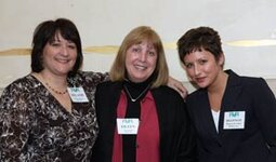 left to right: Melanie Williamson (Robertet), Eileen Hedrick (Belmay Inc.), Shannon Galary (Belmay Inc.)
