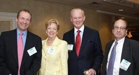 left to right: Grant Mudge (Givaudan), Carol Wessel (Wessel Fragrances Inc.), Ken Wessel (Wessel Fragrances Inc.), Glenn Roberts (FMA)