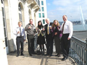 Left to Right: Brian Harvey, Steve Pearce, Isolde Tomann, Dave Baines, Elizabeth Pearce and Marcel Aarts