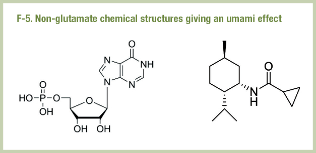 F-5. Non-glutamate chemical structures giving an umami effect