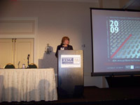 Joanne Ferrara opening the main session of the FEMA Fall meeting