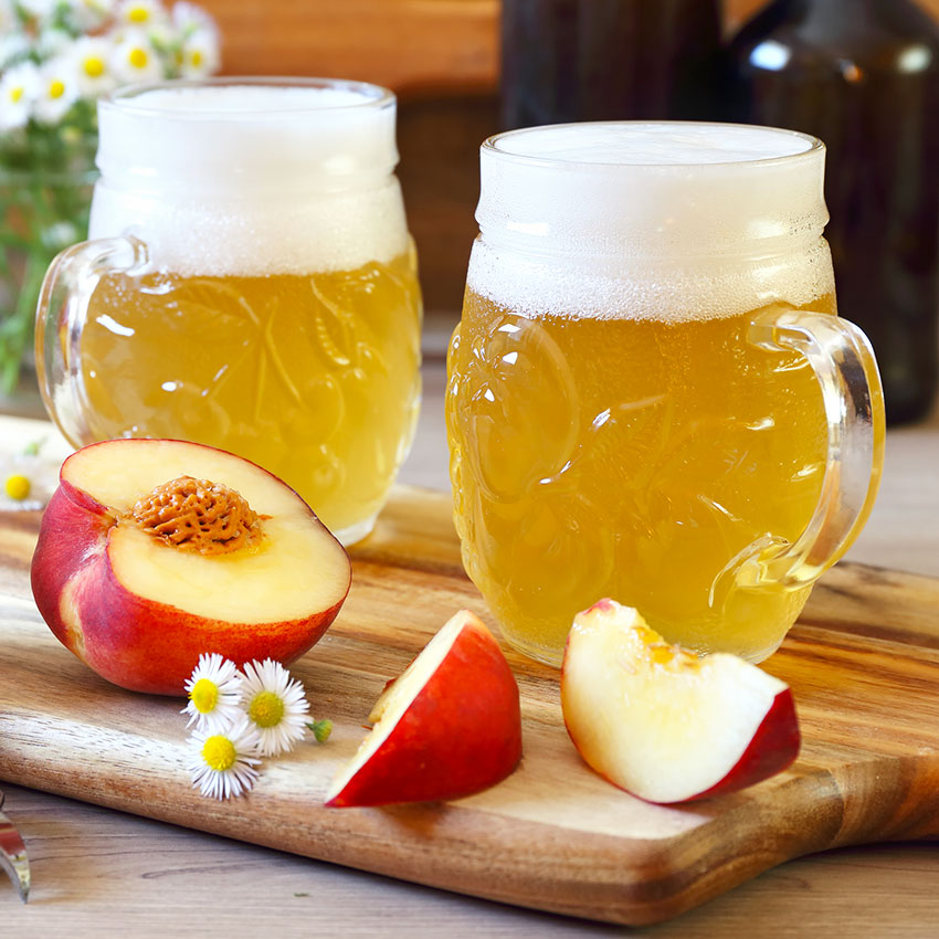 Light beer made with fruit
