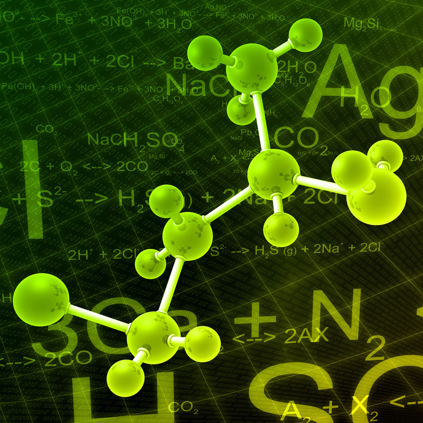 Green molecule structure 850