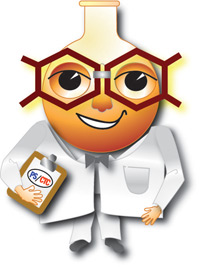 Pyrazine Specialties and CTC Organics' new mascot logo, Professor Kilo