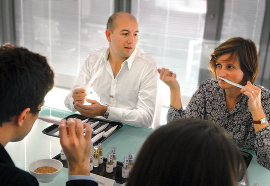 Perfumers Bruno Jovanovic and Anne Flipo