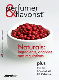 Perfumer & Flavorist September 2010 cover