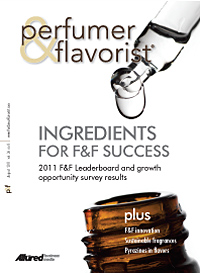 Perfumer & Flavorist August 2011 cover
