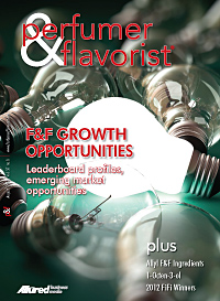 Perfumer & Flavorist August 2012 cover