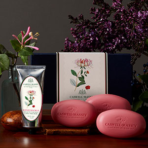 Caswell-Massey collaboration botanical personal care products