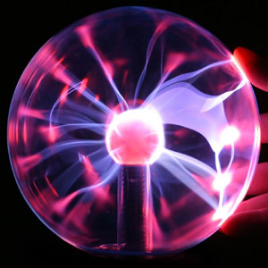 Plasma ball with hand 300