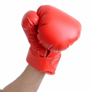Red boxing glove 300