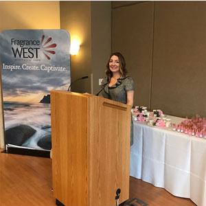 Sherri Sebastian, event speaker and senior perfumer at Fragrance West