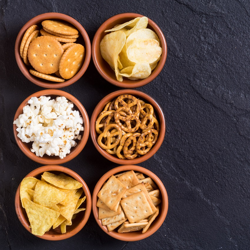 An assortment of snacks and popcorns