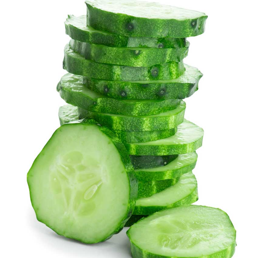 Cut up cucumber slices