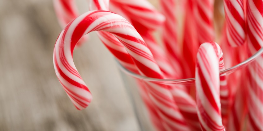 A candy cane