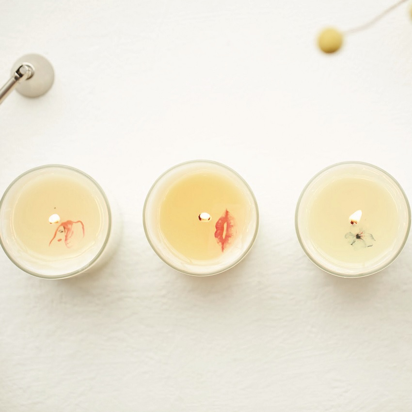 A series of three candles