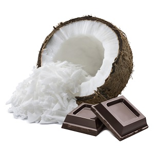 Chocolate and coconut flavors