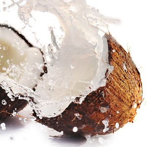 Coconut and water